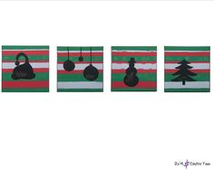 -BELIEVE IN CHRISTMAS -Water markers on canvas -Measures: 20x20 cm each Markers, Kids Rugs, Paintings, Canvas, Water, Shop, Christmas, Etsy, Home Decor
