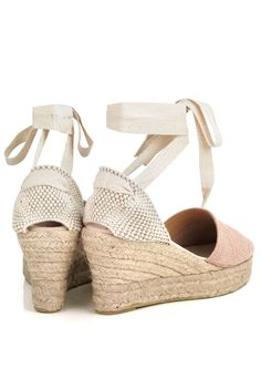 Pink snake print leather wedge espadrilles with ankle laces and jute rope platform base and rubber outsole. Leather Espadrilles, Leather Wedges, Pink Snake, Snake Print, Jute, Platform, Ankle, Shoes, Zapatos