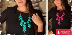 Bubble Necklaces! 13 Colors with Silver or Gold Chains - Ready To Ship!! at VeryJane.com