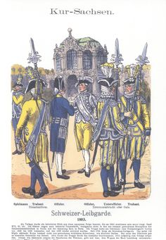 Vol 17 - Pl 12 - Kur-Sachsen. Schweizer Leibgarde. 1803.