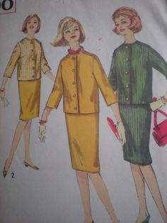 1960s Simplicity 4600 Suit with Skirt and by DiscoDivasVintage, $5.00