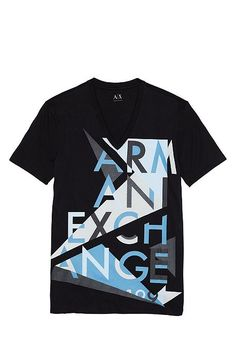 Shop the full range of Men's Graphic Tees and Tank Tops from the latest Armani Exchange collection. Custom Made Shirts, Custom T Shirt Printing, Branded T Shirts, Printed Shirts, Boys T Shirts, Cool Shirts, Tee Shirts, Juniors Graphic Tees, Armani Jeans