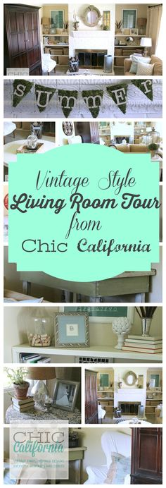 Vintage Style Living Room Tour from Chic California