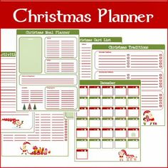 A Typical English Home: Freebie Thursday: Christmas Planner Printables