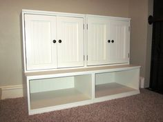How to make your own storage unit for kids toys...looks like Pottery Barn but costs a whole lot less!