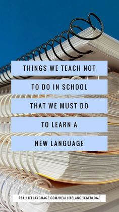 Things we teach NOT to do in school that we must do to learn a new language. German Language Learning, Language Study, Language Lessons, Learn A New Language, Second Language, Teaching English, Learning Languages Tips, Ways Of Learning, Learning Spanish