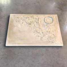 Beton luna plate Mond Teller Dekoration Essen Geschirr