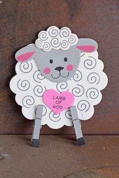 Easter Sheep Craft for Kids for Sunday School or Children's Church AD