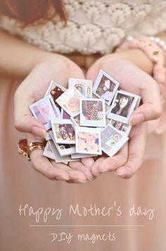 DIY mini photo magnets - cute!