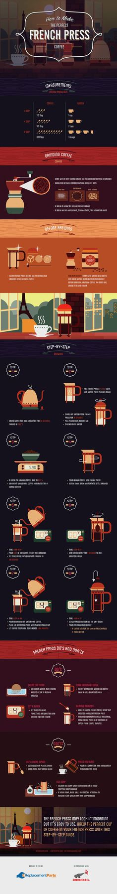 Making the Perfect French Press Coffee / Coffee Shop Stuff Coffee Is Life, I Love Coffee, Coffee Break, My Coffee, Ninja Coffee, French Coffee, Coffee Plant, Coffee Cafe, Coffee Drinks
