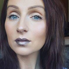 Wearing lid lingerie in Night Glow on lips instead of eyes!