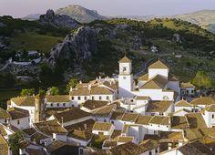 Grazalema Sunset, Grazalema, Andalucia, Spain, hill town, beautiful, white, pantile roofs, sun, evening, valley photo