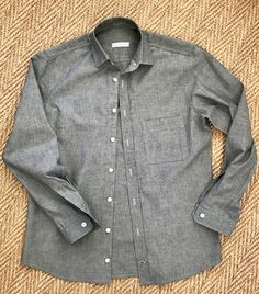 Diary of a Chain Stitcher : Grey Chambray Fairfield Button Up Shirt Archer Shirt, Winter Shirts, Making Shirts, How To Make Clothes, Formal Shirts, Top Stitching, Top Pattern, Cool Shirts, Chambray