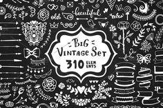 310 elements - Big Vintage Set - Objects - 1