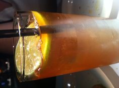 Dark and Stormy: Black strap rum, ginger beer, fresh lime at Vivo in Chicago.