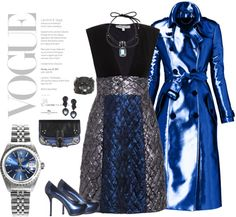 """""""Blue for you, blue for me"""" by riquee ❤ liked on Polyvore"""