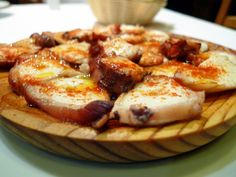 Octopus Galician style is a traditional recipe of the Galician