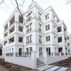 Villa 1 of the Diplomaten Park in Berlin by Kahlfeldt Architekten.