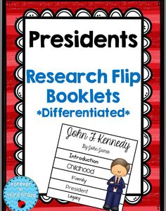 2 research projects about the presidents. Great for classrooms with students at different levels of research skills