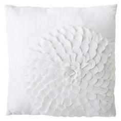 Xhilaration® Flower Decorative Pillow - White : Target Mobile-living room chair