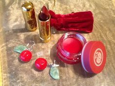 All Things Cherry!    Classic Color Lipstick- Cherry Red  Sweetheart Balm- Cherry