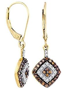 Brandy Diamond Chocolate Princess Earrings. ** Check out this great product. (This is an affiliate link) #DiamondAccented