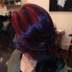 black with fire red highlights