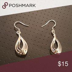 Sterling silver earrings Dangling piercer earrings. Buy this item to get a free pair of wooden earrings! Jewelry Earrings