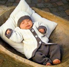Кофточка шапочка и штанишки для новорожденных - Кофточки спицами для…