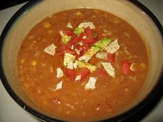 Dr. McDougall Mexican Bean and Rice Soup (crazy easy) No oil, low fat    This is a great recipe easily made with your food storage!!!   Yum!!!!!