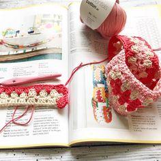 A little update #whatsonyourhook #insidecrochet #crochetbunting #cottonyarn #ricodesign
