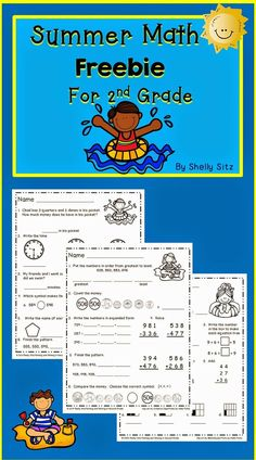 Morning work for second grade FREEBIE--spiral review of math and ...