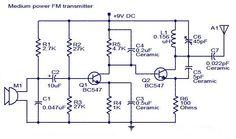 mini micro fm microphone transmitter circuit schematic electronics rh pinterest com
