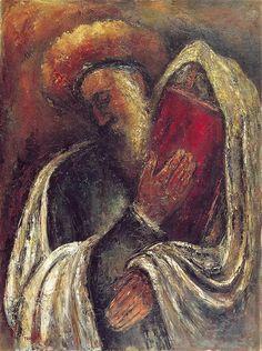 Silent Prayer, Reuven Rubin, 1939-1943, oil on canvas. Rubin Museum, Tel Aviv.