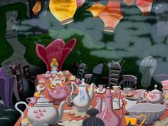 Alice in Wonderland: love the giant tea party!