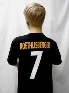 Steelers Preschool Roethlisberger T-Shirt Pittsburgh Steelers Merchandise, Tee Shirts, Tees, Preschool, Sports, Hs Sports, T Shirts, T Shirts, Kid Garden