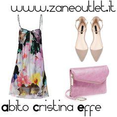 """Abito Cristina Effe"" by zaneoutlet on Polyvore"