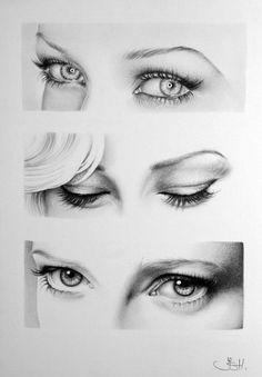 ART :: Anneke van Giersbergen Eyes Pencil Drawing - Fine Art by Ileana Hunter