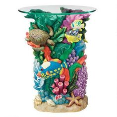 The Great Barrier Reef Glass-Topped Table $159.00