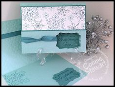 Simply Simple FLASH CARD - Endless Christmas Wishes Card by Connie Stewart. Are you looking for a winter card that is quick and easy? is elegant and fun, all in one. I love the window punched in the card and the ribbon adds that Stampin Up Christmas, Noel Christmas, Christmas Wishes, Christmas Greetings, Card Making Tutorials, Making Ideas, Endless Wishes, Snowflake Cards, Snowflakes