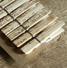 music notes clothes pins