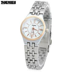 Skmei 1133 Female Quartz Watch Round Dial Steel Band 30M Water Resistant #>=#>=#>=#>=#> Click on the pin to check out discount price, color, size, shipping, etc. Save and like it!