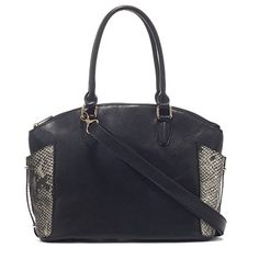 Serpent bag by Naturalizer featuring snakeskin details and gold-tone hardware.