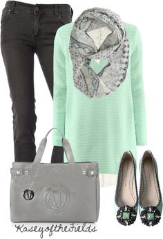 """Scarf Contest"" by kaseyofthefields on Polyvore. I have the scarf. I want the sweater."