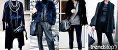 Fall Winter 2014-15, Dark Daywear Elegance a key trend theme, women's apparel and accessories, streetstyle 1