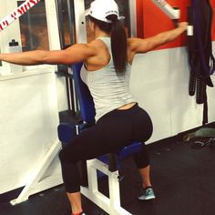 """""""For everyone wondering what rear delts on the reverse pec deck machine look like.."""" Back attack workouts."""