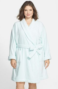 3f2528aea8 Cozy Terry Robe (Plus Size) A luxuriously soft terry cloth robe encircled  by an