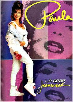 Paula Abdul  L.A Gear ad.  Late 1980's....dressed like this as a teen!
