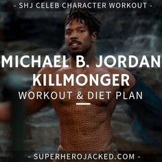 Michael B. Jordan Workout and Diet [Updated]: Train like Killmonger! Workout Plan For Men, Workout Diet Plan, Workout Guide, Post Workout, 300 Workout, Workout Ideas, Michael B. Jordan, Lean Body Workouts, Gym Workouts