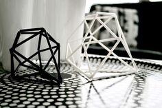 Himmeli geometric sculpture.